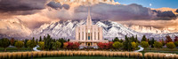Autumn Storm at the Oquirrh Mountain Temple